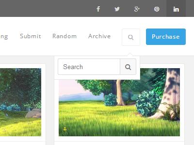 Header tumblr header post grid css html menu