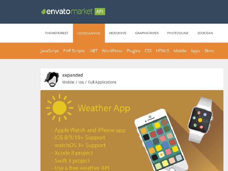 Envato Market API jQuery Plugin by Juan Vargas | Dribbble | Dribbble