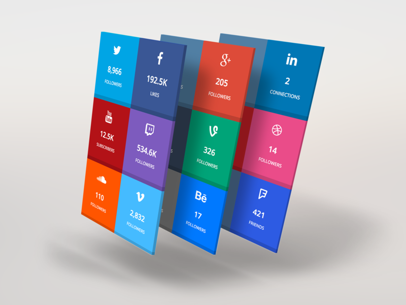 SocialCounters foursquare twitch behance dribbble linkedin youtube facebook instagram twitter