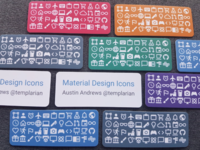 Material Design Icons Cards