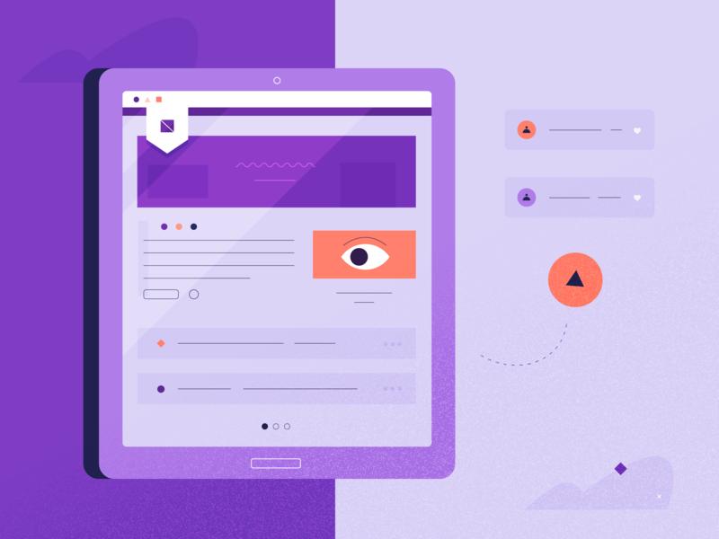 Homepage. vibe concept ipad homepage profile eye design ui tech illustration