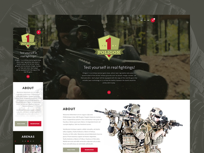 Poligon-1 web ui ux responsive website design military lasertag risbolv
