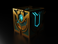 Hextech Chest league of legends lol 3d render blender 3d