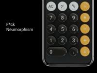 F*ck Neumorphism throwback skeumorphism neumorphism blender 3d