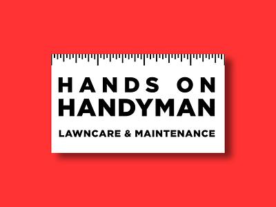Local Handyman Business Card business card ruler