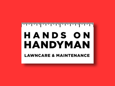 Local Handyman Business Card business card ruler