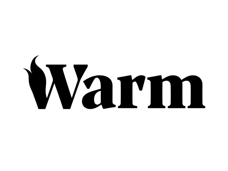 Warm Co-living Logo flame logotype logo