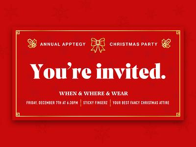 Company Christmas Party Invite holiday christmas card christmas card invitation card
