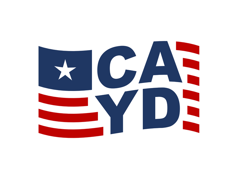 Central Arkansas Young Democrats flag american flag democrat political young democrats logo