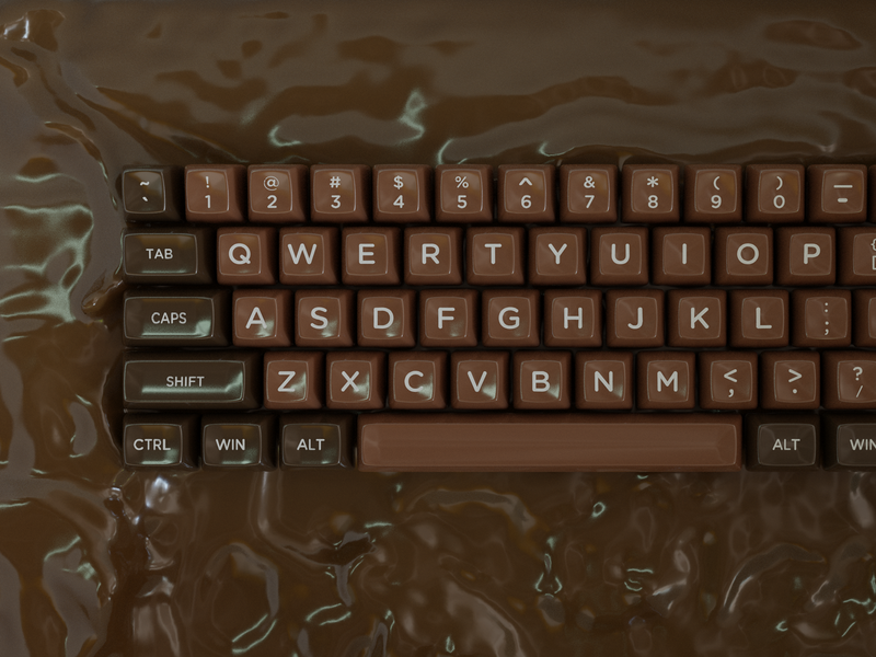 Chocolate Keycaps blender 3d keyboard keycaps
