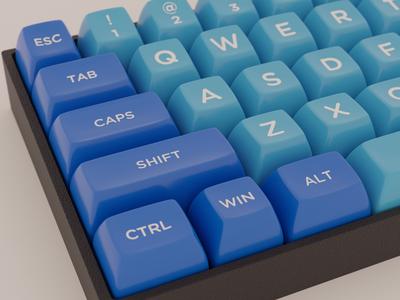 Keycaps render