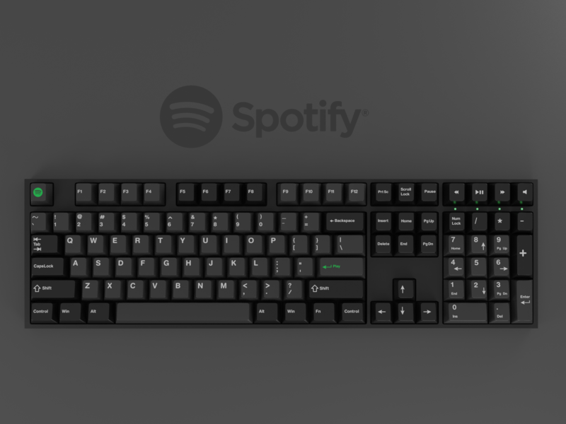 Brands as keyboards #2: Spotify spotify 3d render keyboard keycaps blender 3d