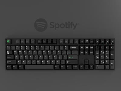 Brands as keyboards #2: Spotify spotify 3d render keyboard keycaps blender 3d