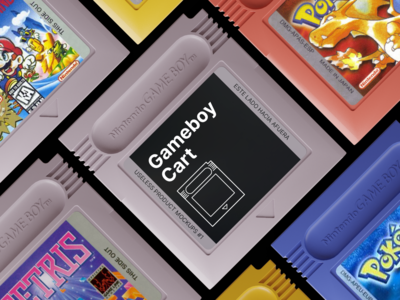 Useless Product Mockups #1: Gameboy Cart free psd freebie photoshop template template photoshop blender 3d