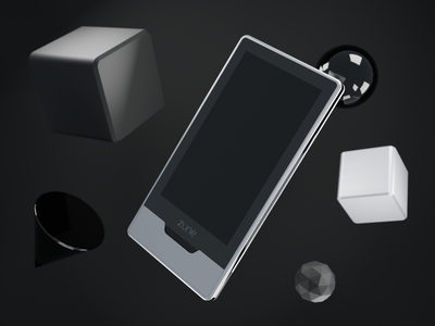 Useless Product Mockups #2: Zune HD zune freebie psd mockup mockup blender 3d