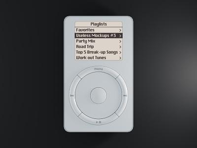 Useless Product Mockups #3: iPod mockup free psd psd ipod freebie 3d render blender 3d