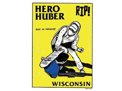 RIP Anthony Huber skateboarding santacruz blackflag parody procreate wisconsin