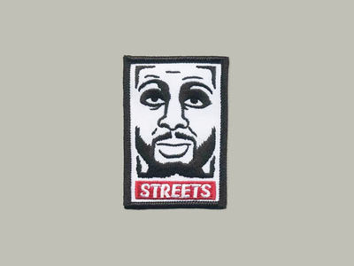 STREETS patch nyc fixed gear streets parody obey patch