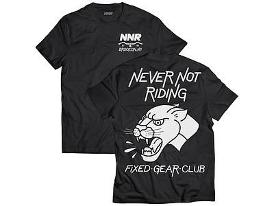 NNR Collab typography logo mock shirt bike track bike fixie fixed gear flat tattoo panther cycling