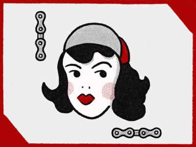 Procreate Test Run chain cycling illustrator illustration design fixed gear pin up tattoo procreate