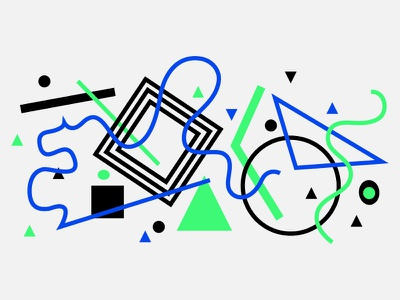 Messi abstract vector illustration art design green blue black triangle circle flat