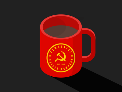 Communist Coffee 01 coffee communism mug red yellow funny