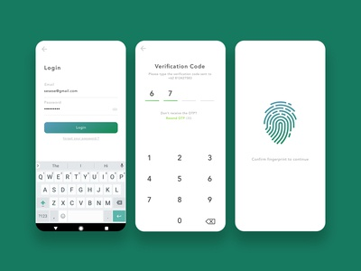 Exploration login with OTP and fingerprint verification