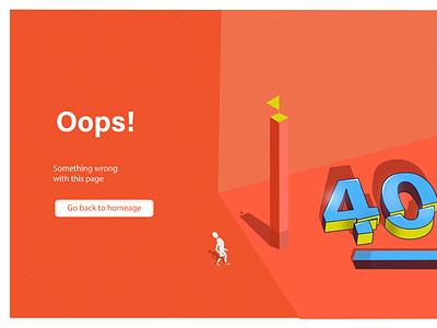 404page web ui illustration design