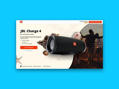 JBL Charge 4 Landingpage ui design landingpage webdesign technology jbl ux ui