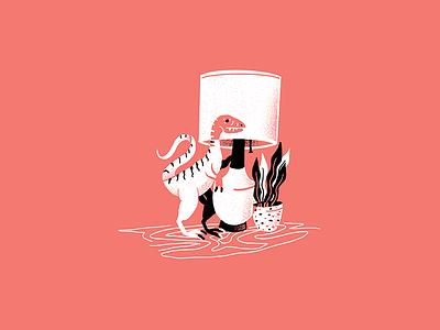 Mid-Century Dino - 07 dinosaur midcentury texture editorial illustration editorial illustration
