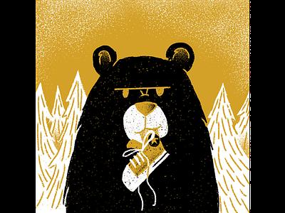MKU Day 16 - Adventure procreate mku bear texture editorial illustration editorial illustration