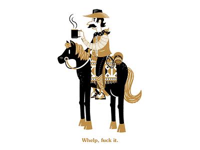 Cowboy vector western cowboy editorial illustration editorial illustration
