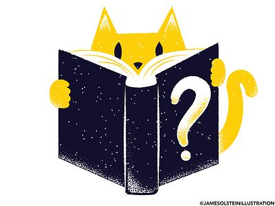 What's your favorite book? reading cat procreate illustrator texture editorial illustration editorial illustration
