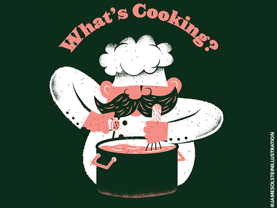 What's cookin? illustrator procreate chef food texture editorial illustration editorial illustration