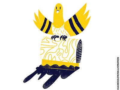 Printing pigeon! screenprinting pigeon procreate illustrator texture editorial illustration editorial illustration
