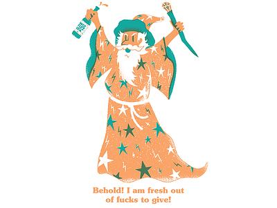 Wiz fucks to give wizard adobe illustrator texture editorial illustration editorial illustration