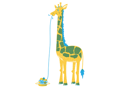 Giraffe spaghetti giraffe texture editorial illustration editorial illustration