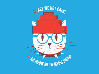 Q: ARE WE NOT CATS? are we not men cats devo texture editorial illustration editorial illustration