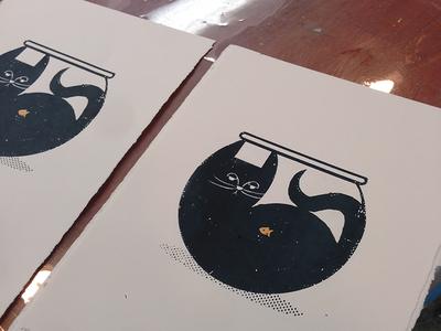 Cat bowl printed