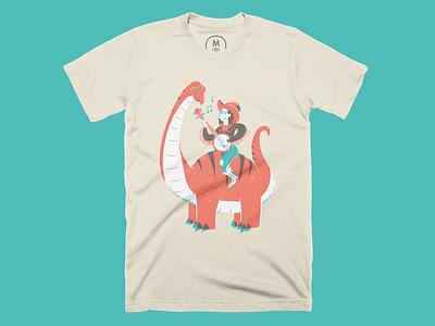 Howdy Ol' Timer - Shirt cotton bureau dinosaur cowboy shirt editorial illustration editorial illustration