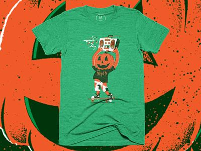 Helloween - Shirt cotton bureau shirt halloween texture editorial illustration editorial illustration