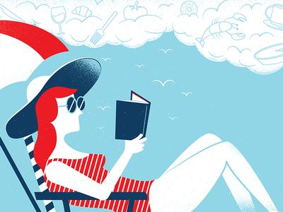 Food Truck new jersey shore redhead food truck vector reading summer illustration