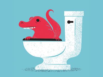 Logical Fallacies 02 toilet alligator rejected book illustration book editorial illustration editorial-illuatration editorial illustration