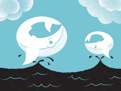 Illustrated Science 141  humpback whales whales editorial illustration editorial illustrated science science illustration