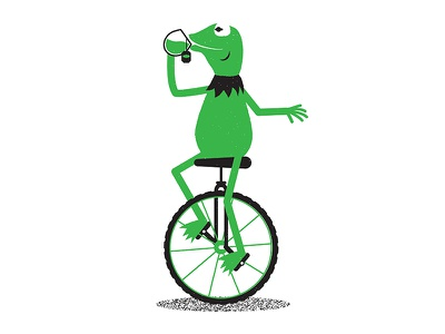 Memes none of my business dat boi memes riso art kermit illustration