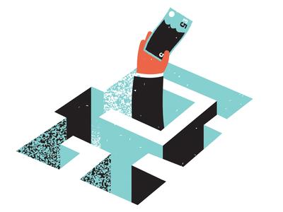 December Economia - Spot maze currency texture vector economia economy taxes magazine illustration magazine editorial illustration illustration editorial