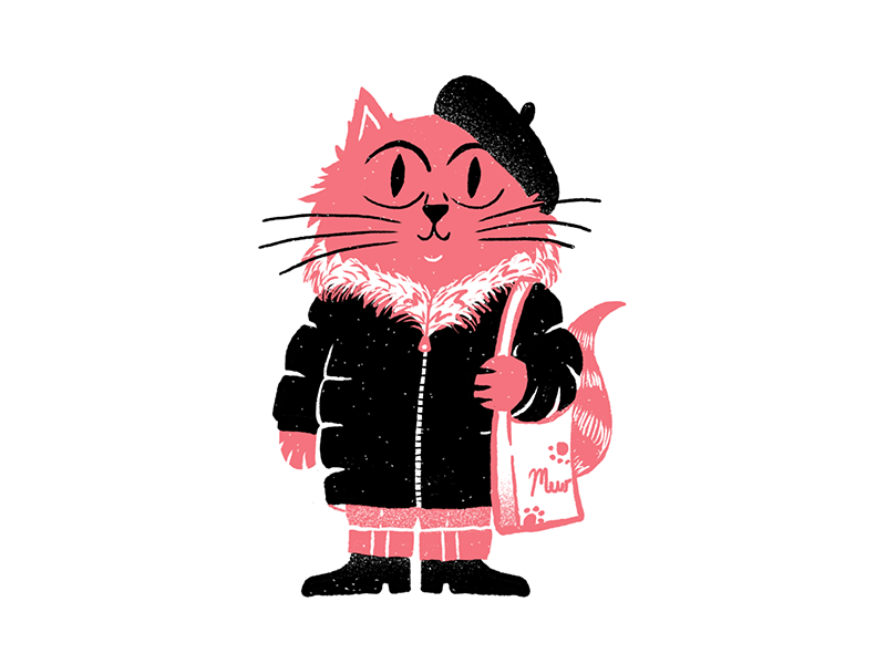 Fancy Cat meow editorial fashion cat illustration ipad procreate sketchbook procreateclub