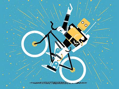 Odd Science Amazing Inventions Book James Olstein robot bike childrens book kid lit kids book odd science texture science editorial editorial illustration illustration