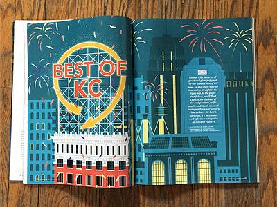 435 Magazine - Double Page Spread kansascity 435 magazine magazine illustration magazine editorial illustration editorial illustration
