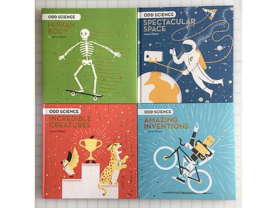 Odd Science Books kidslit books childrens books odd science space dinosaur grain philadelphia illustrated science texture science editorial illustration editorial illustration